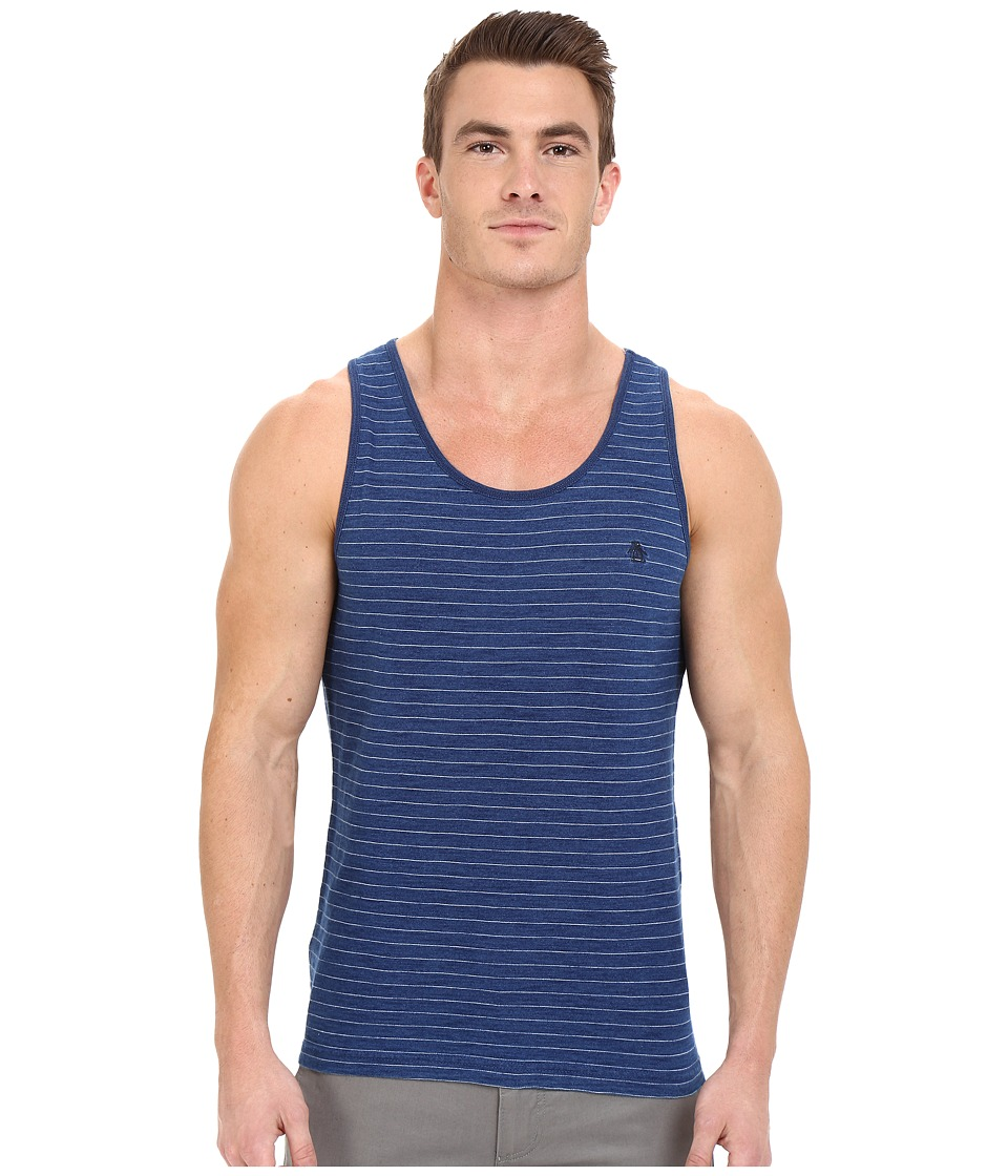 Original Penguin - Indigo Feeder Stripe Tank Top (Dark Denim) Men's Sleeveless