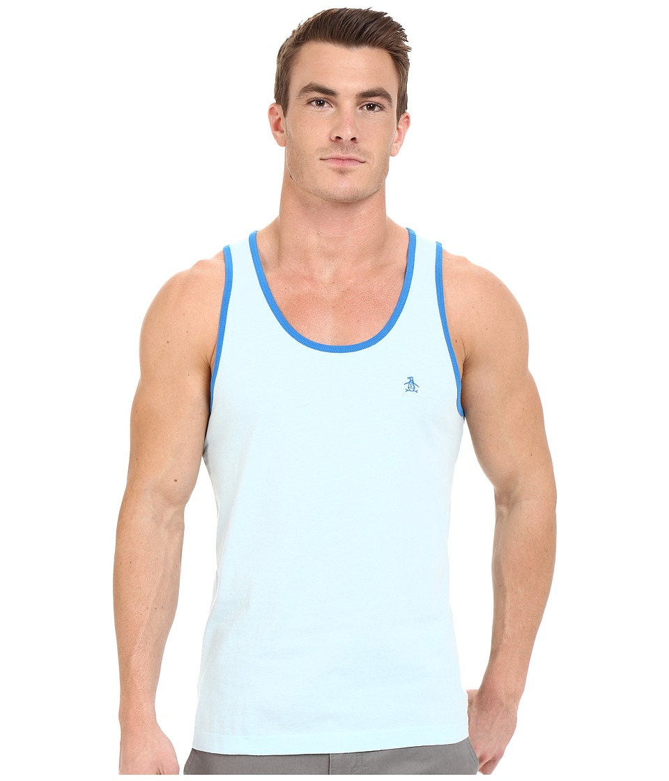 Original Penguin - Earl Tank (Crystal Blue) Men's Sleeveless