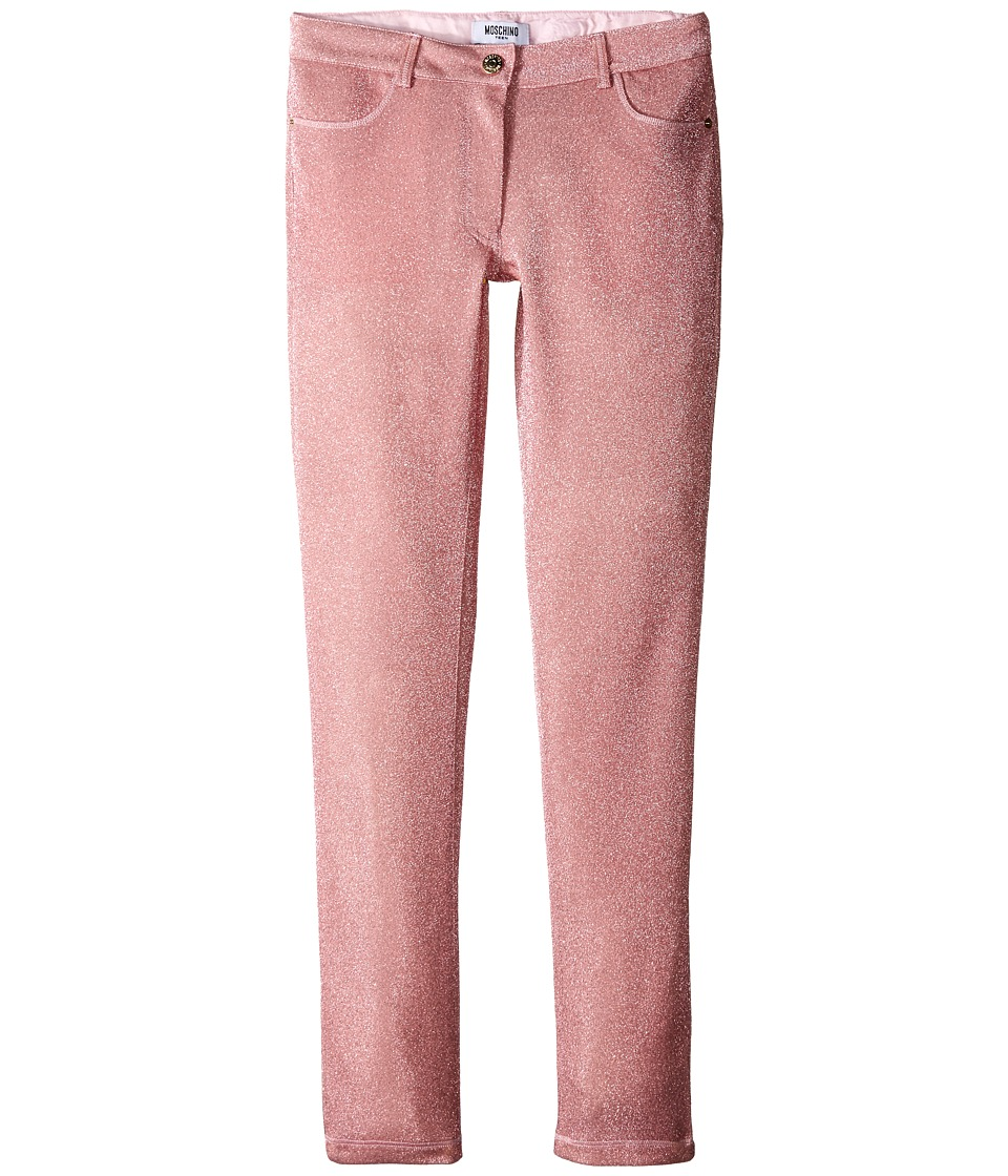 Moschino Kids - Lurex Pants (Big Kids) (Pink) Girl's Casual Pants