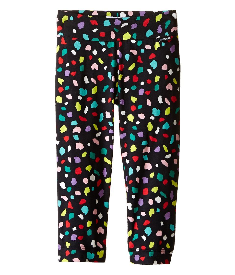 Moschino Kids - Confetti Print Leggings (Little Kids/Big Kids) (Black) Girl's Casual Pants