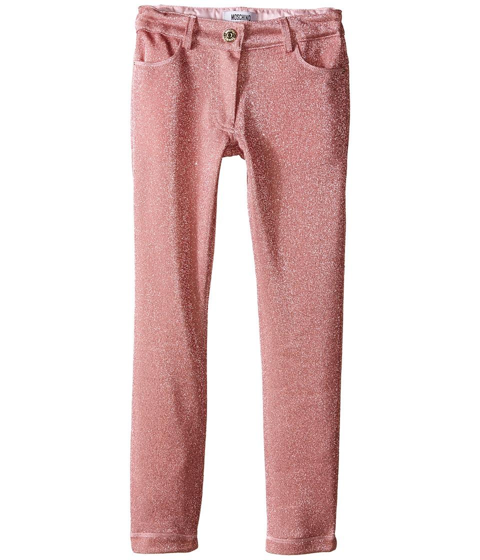Moschino Kids - Lurex Pants (Little Kids/Big Kids) (Pink) Girl's Casual Pants