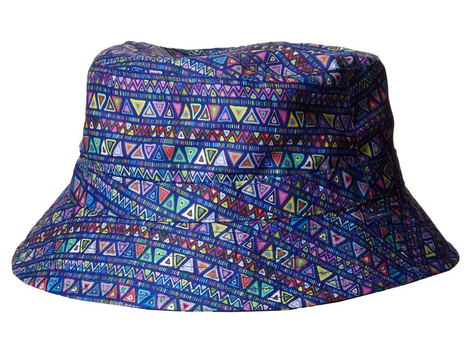 San Diego Hat Company Kids - Reversible Sublimated Bucket Hat with Adjustable Chin Strap (Infant) (Navy Print) Bucket Caps