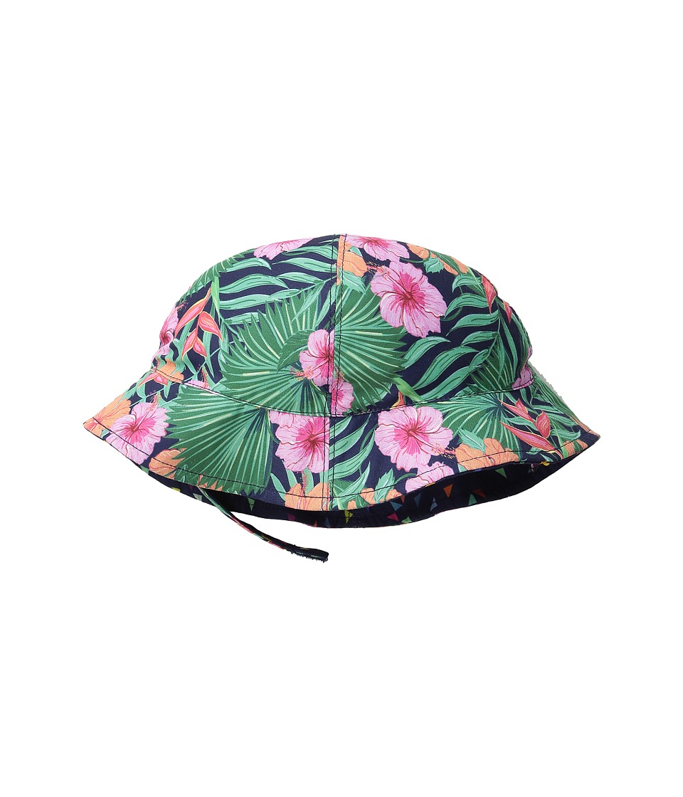 San Diego Hat Company Kids - Reversible Sublimated 4 Panel Bucket Hat (Infant) (Hibiscus Print) Bucket Caps