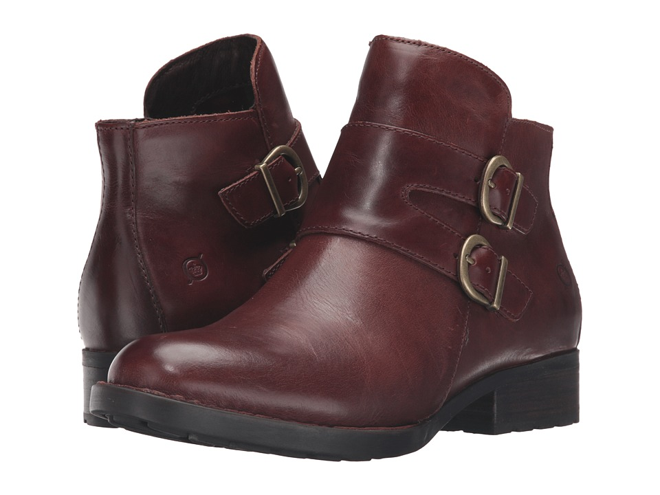 Born Adler Cognac Full Grain Leather Womens Boots