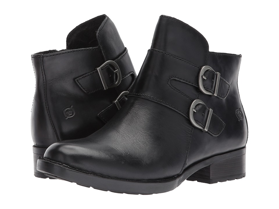 Born Adler Black Full Grain Leather Womens Boots