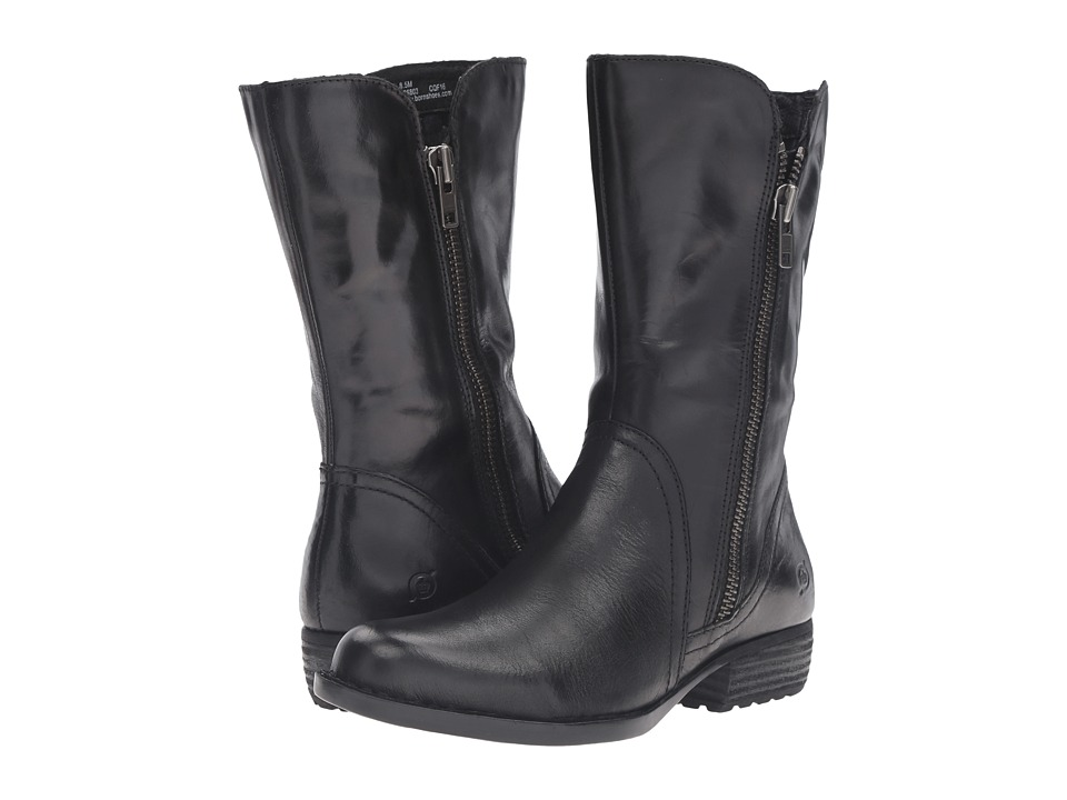 Born - Ivory (Black Full Grain Leather) Women's Boots