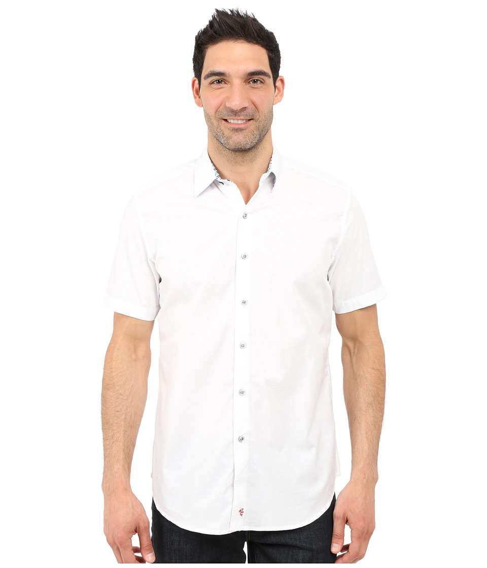 Robert Graham - Seven Wonders Short Sleeve Shirt (White) Men's Short Sleeve Pullover