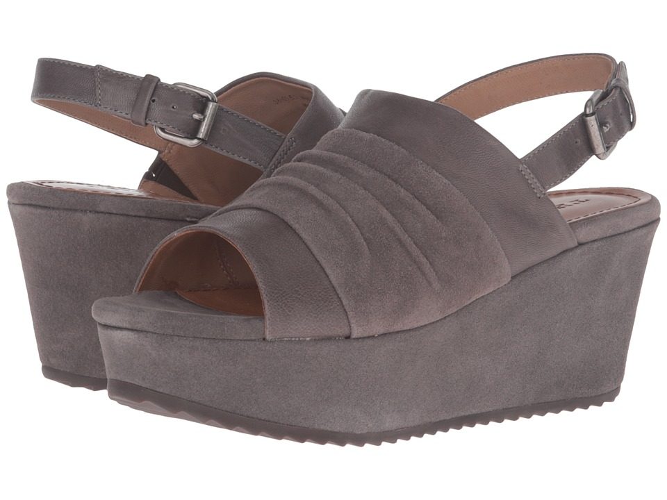 Trask Shari (Gray Italian Suede/Gray Italian Washed Sheepskin) Women
