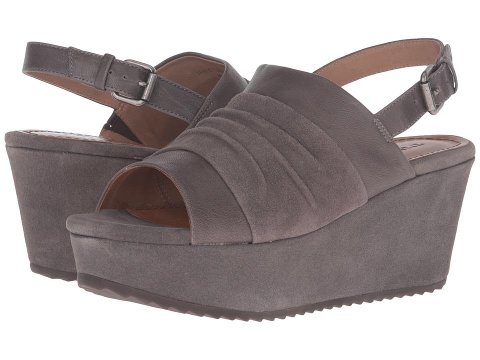 Trask - Shari (Gray Italian Suede/Gray Italian Washed Sheepskin) Women's Wedge Shoes