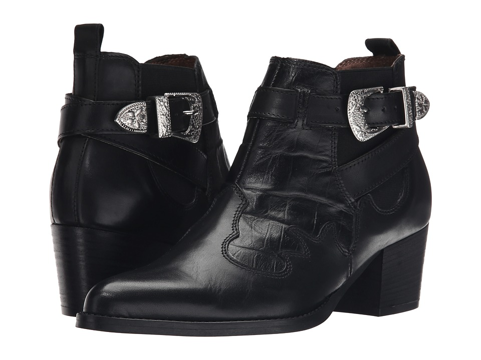 Steve Madden - Wildwest (Black Leather) Women