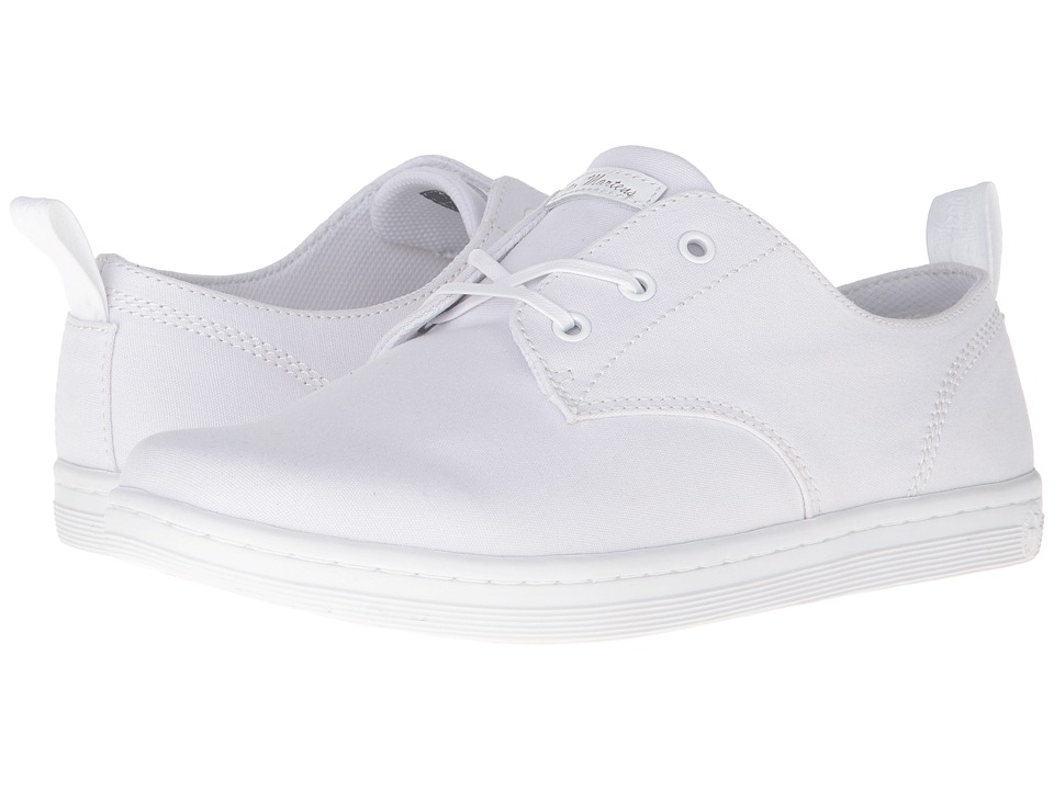 Dr. Martens Callum 3-Eye Shoe (White 8oz. Canvas) Lace up casual Shoes