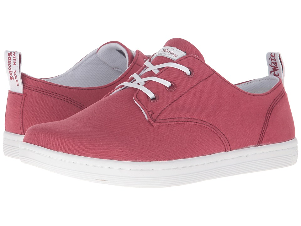 Dr. Martens - Callum 3-Eye Shoe (Deep Red 8oz. Canvas) Lace up casual Shoes
