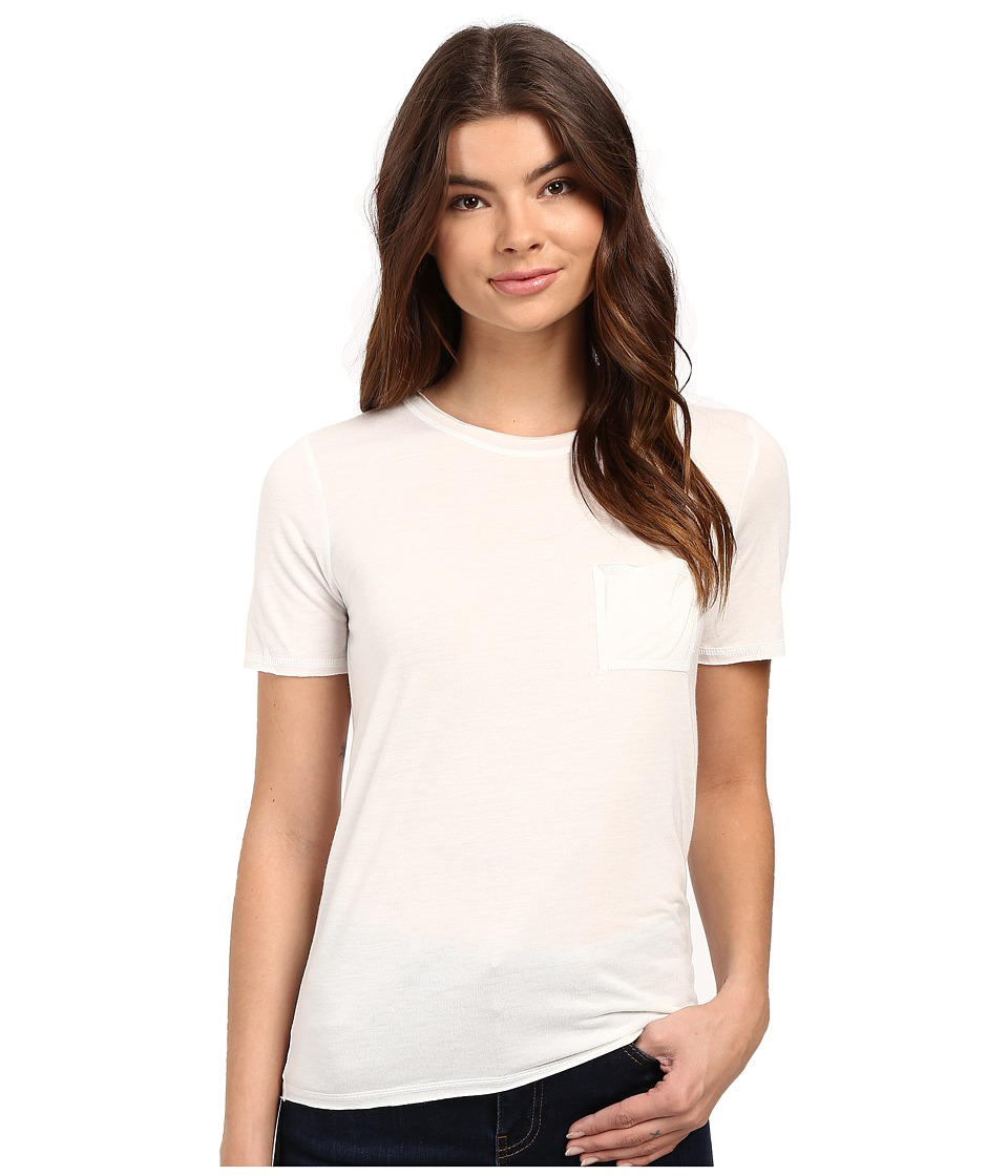 RVCA - Benny Short Sleeve Crew Top (Vintage White) Women's Short Sleeve Pullover
