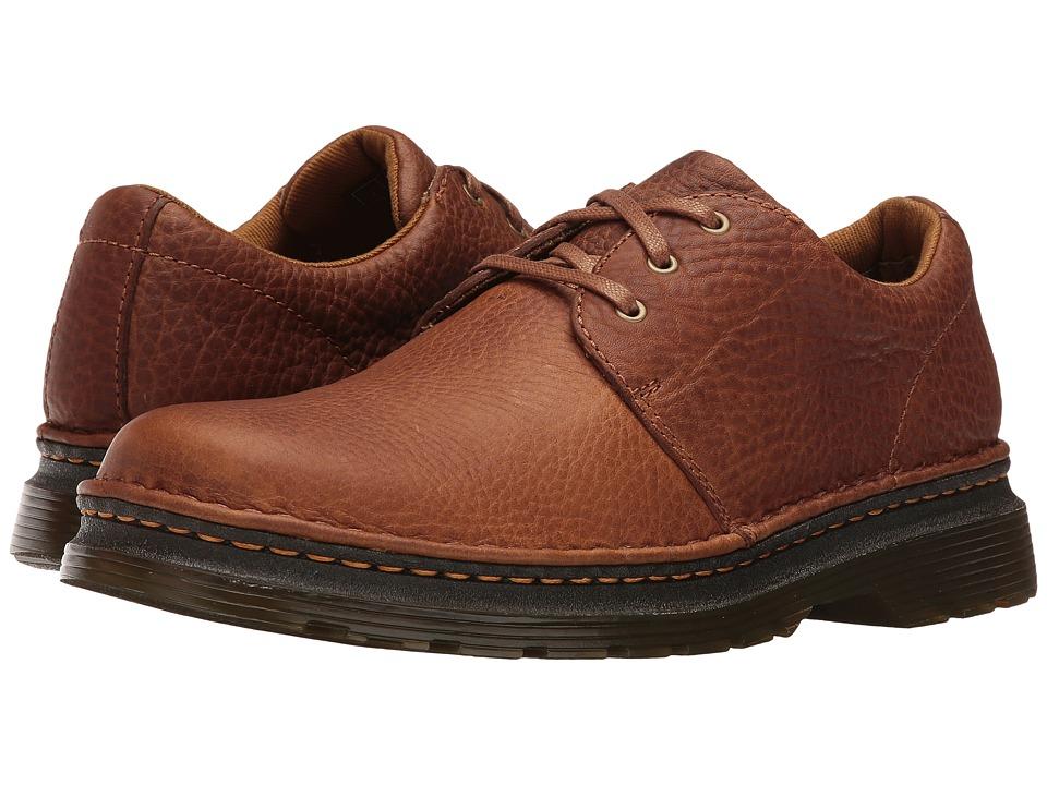 Dr. Martens Hazeldon 3-Tie Shoe (Tan Grizzly) Lace up casual Shoes