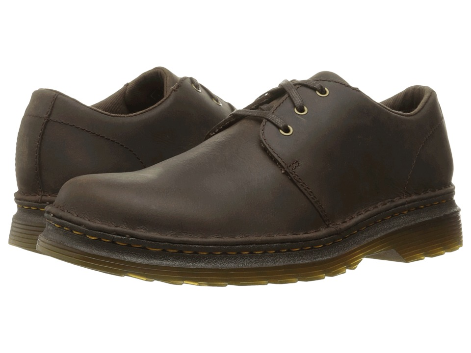Dr. Martens Hazeldon 3-Tie Shoe (Brown Kingdom) Lace up casual Shoes