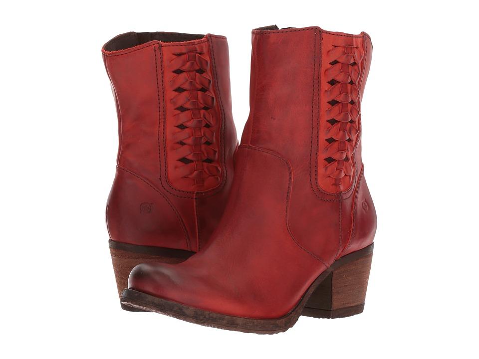 Born Orosi (Rojo Full Grain Leather) Women
