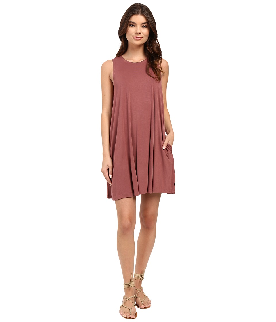 RVCA Sucker Punch 2 Dress (Rosewood) Women