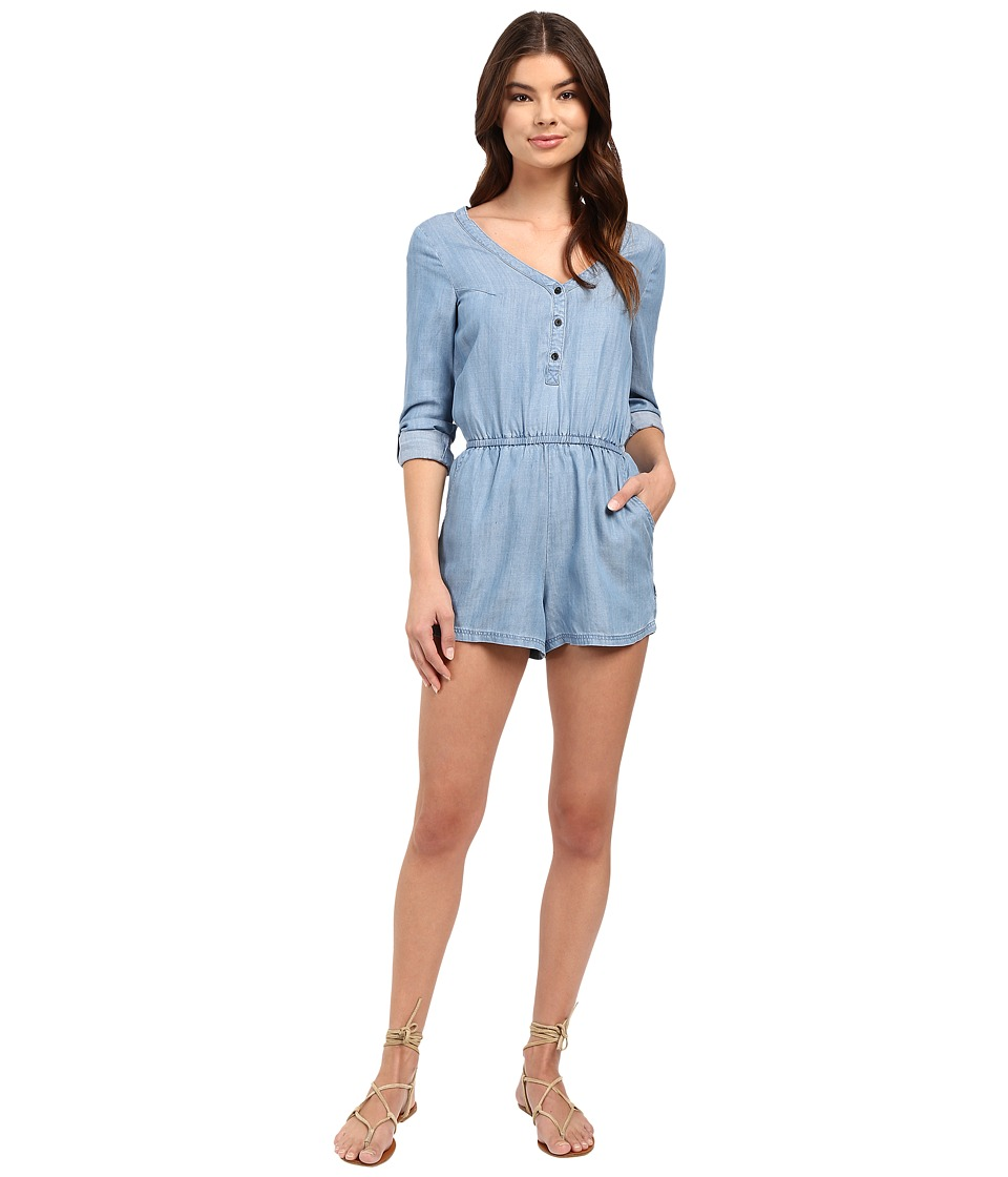RVCA - Mobile Jumper (Chambray) Women's Jumpsuit & Rompers One Piece