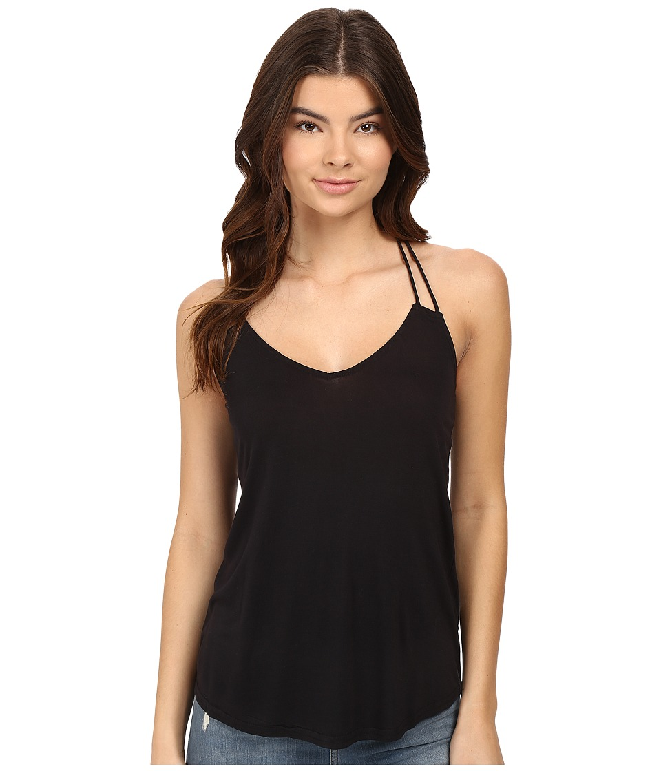 RVCA - Sheila V-Neck Tank Top (Black) Women's Sleeveless