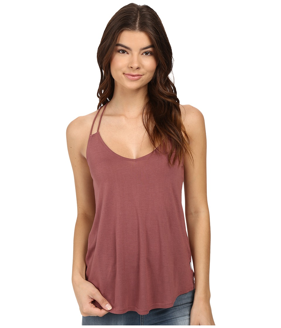 RVCA - Sheila V-Neck Tank Top (Rosewood) Women's Sleeveless
