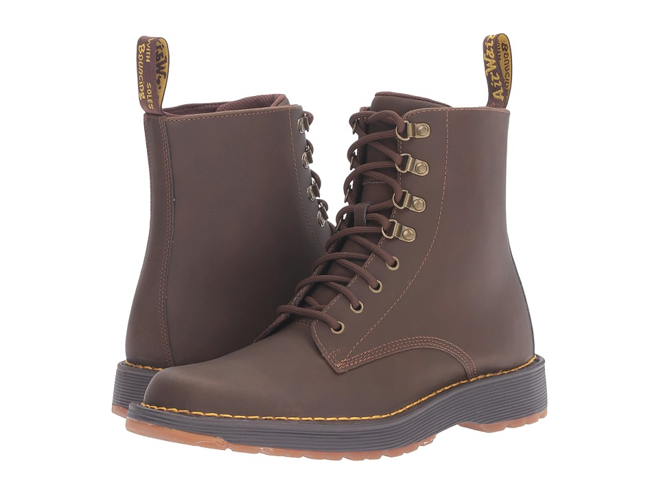 Dr. Martens - Lawton 8-Eye Boot (Tan Peidmont Split) Lace-up Boots