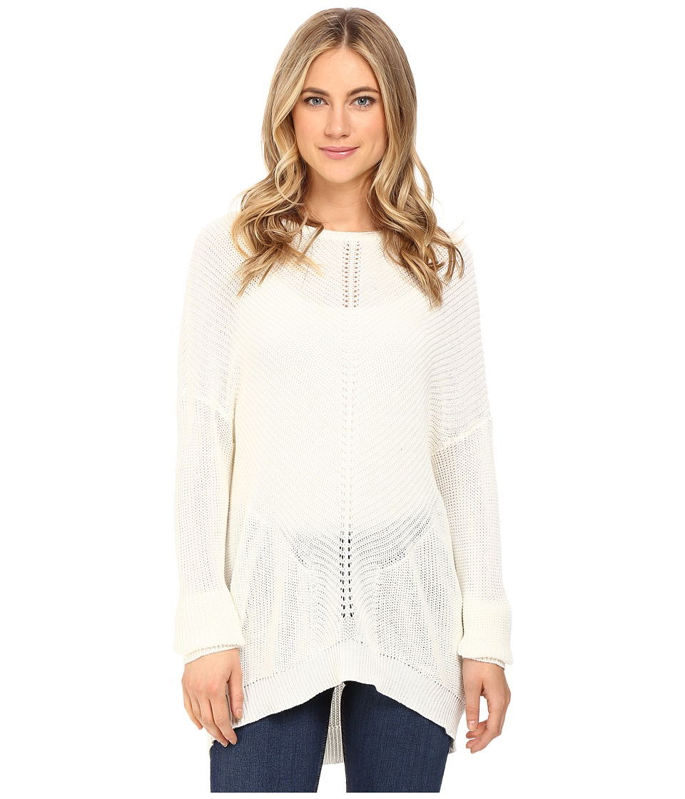 RVCA - Thriller Pullover Crew Neck Sweater (Vintage White) Women's Sweater