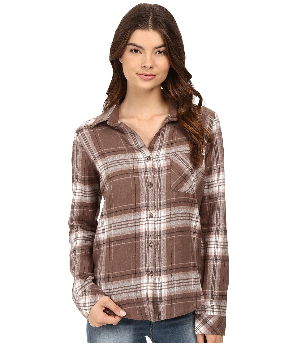 RVCA - Jig 4 Top (Iron) Women's Long Sleeve Button Up