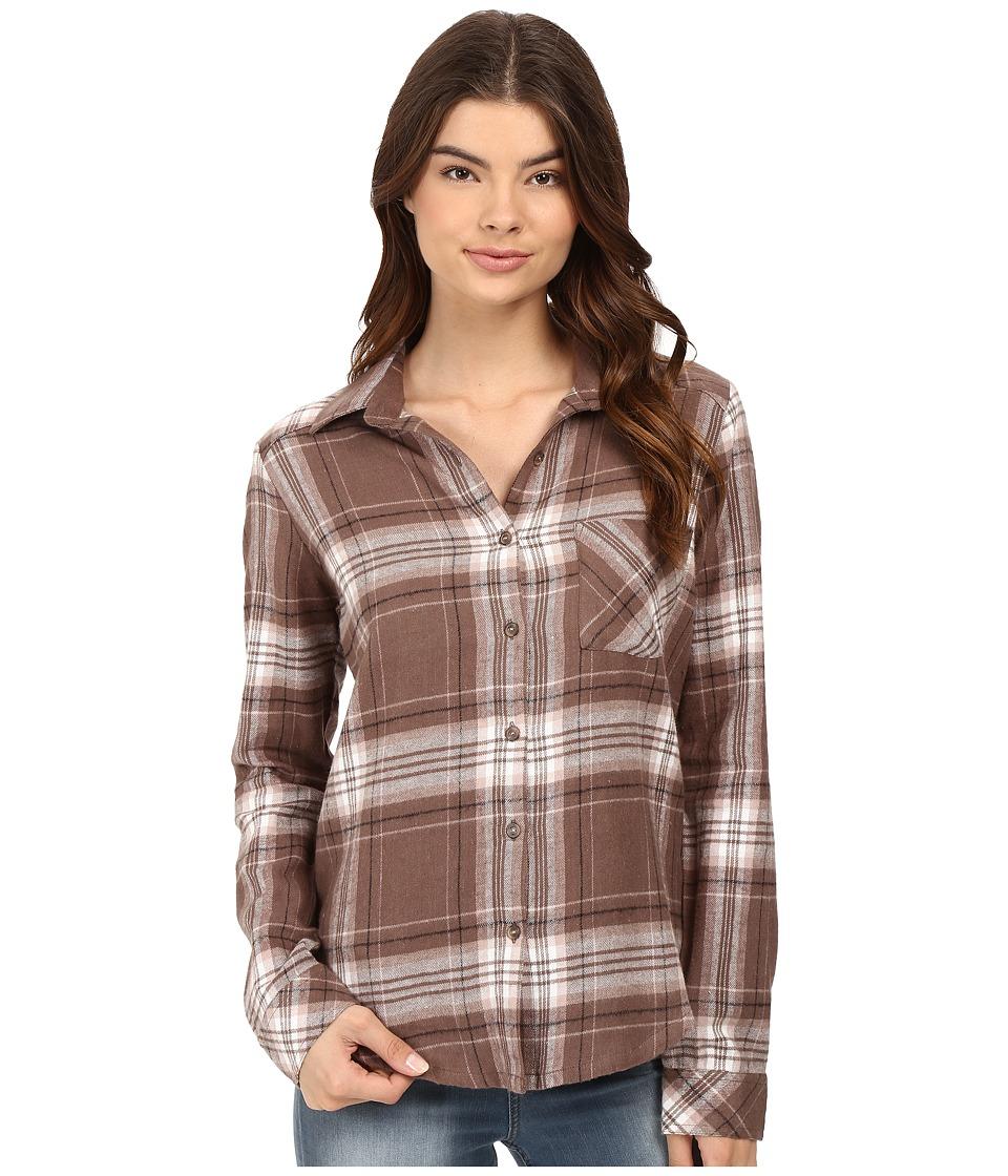 RVCA - Jig 4 Top (Iron) Women's Long Sleeve Button Up
