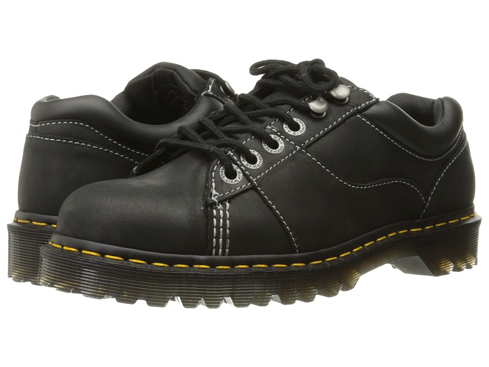 Dr. Martens - Mellows Padded Collar Shoe (Black Kingdom/PU) Shoes