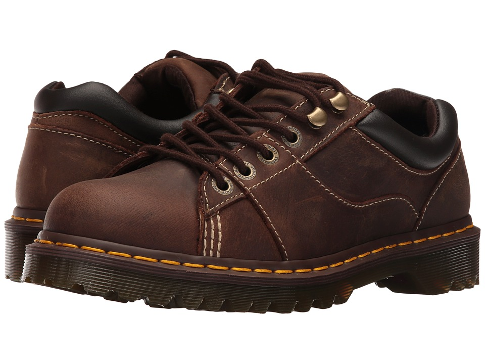 Dr. Martens - Mellows Padded Collar Shoe (Brown Kingdom/Black PU) Shoes