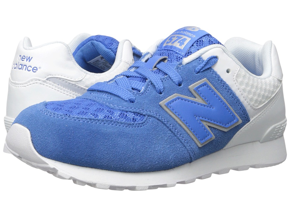 New Balance Kids 574 Breathe (Big Kid) (Blue/Grey) Boys Shoes