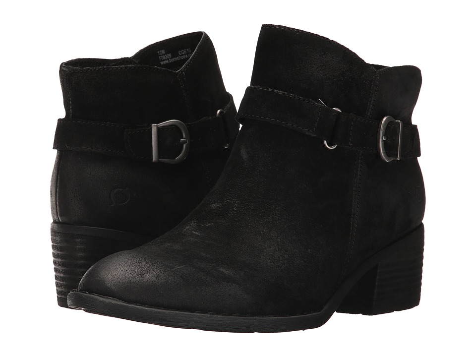 Born - Adia (Black Distressed) Women's Boots