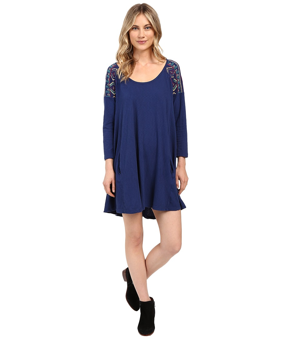 Roxy - Bay Dreamer Dress (Blue Print) Women's Dress
