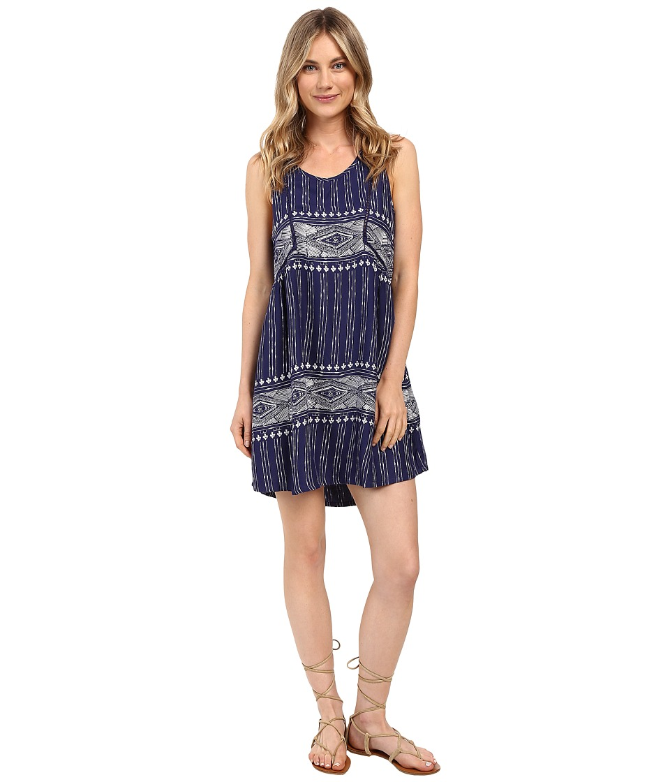 Roxy - Astro Coast Dress (Dancing On Combo/Print Blue) Women's Dress
