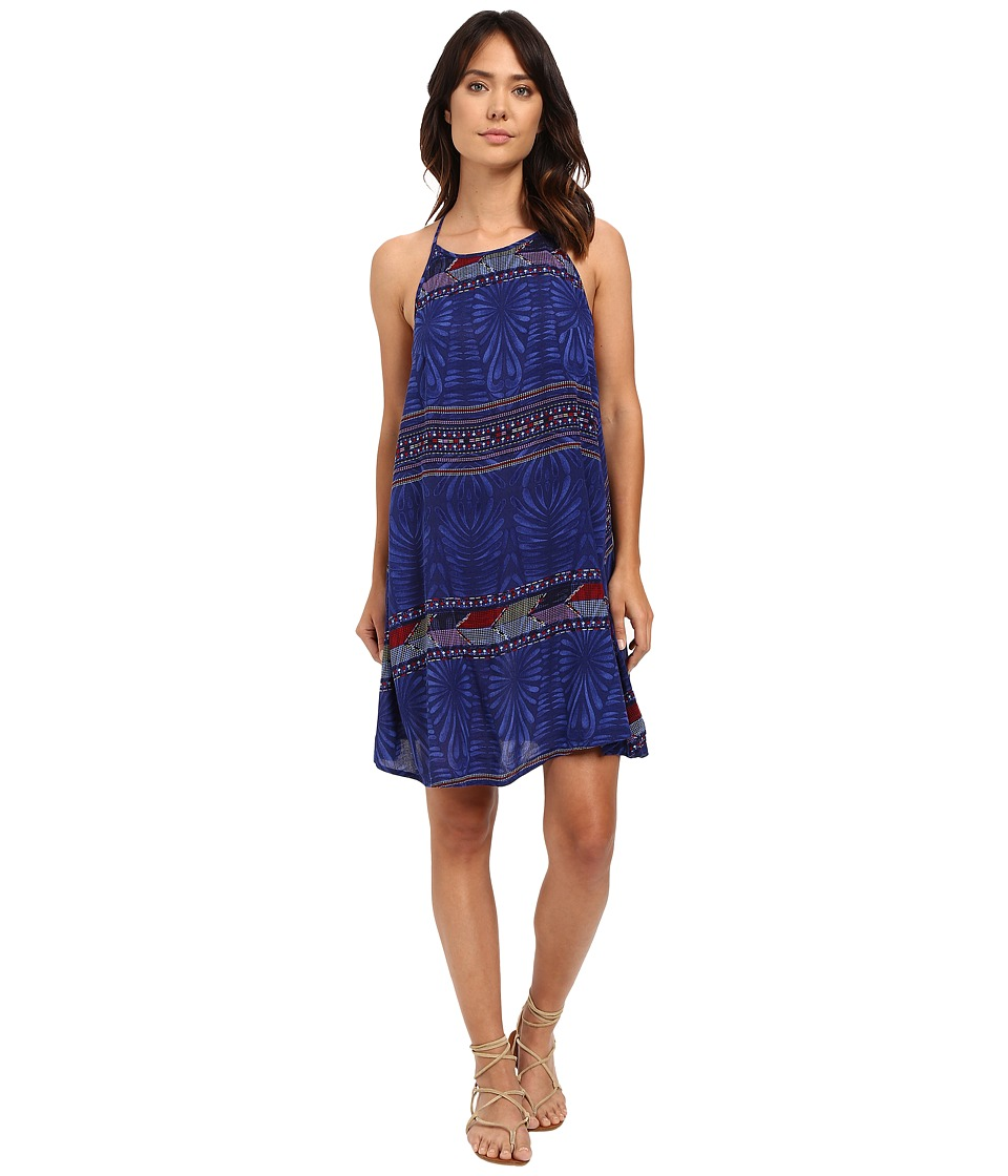 Roxy - Sand Roast Dress (Into the Flow Combo/Dazzling Blue) Women