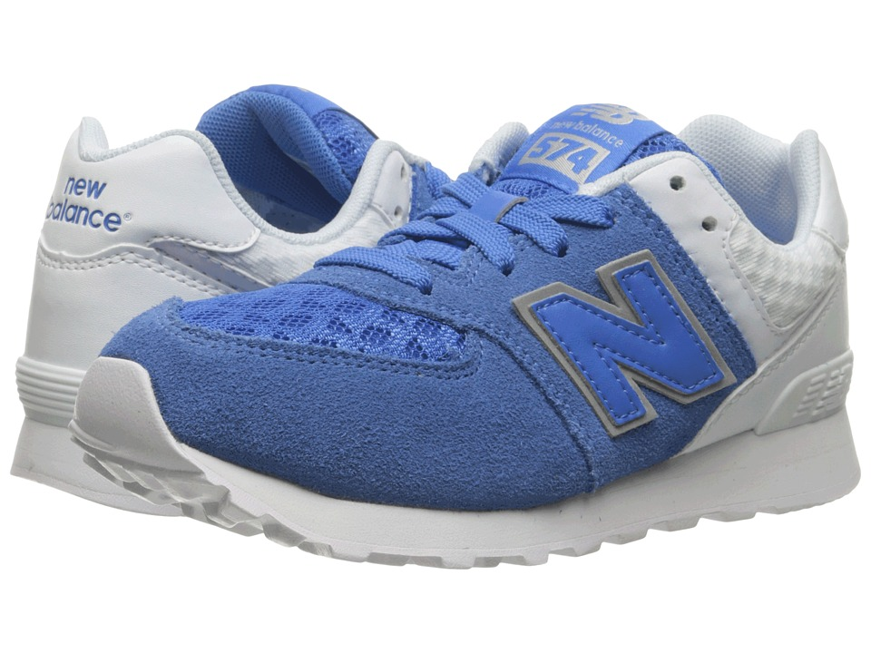 New Balance Kids 574 Breathe (Little Kid) (Blue/Grey) Boys Shoes