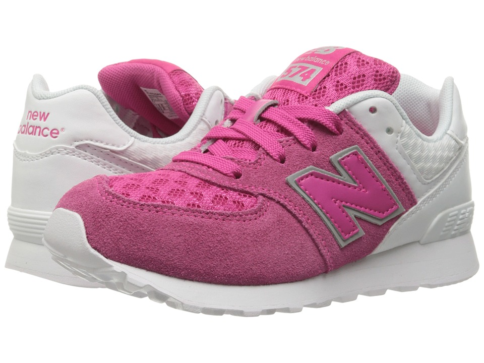 New Balance Kids 574 Breathe (Little Kid) (Pink/White) Girls Shoes