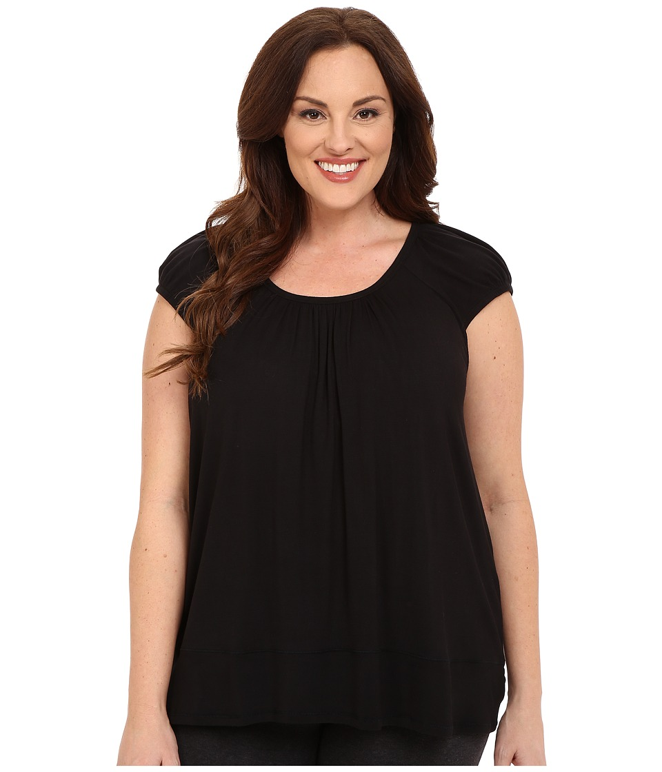 DKNY - Plus Size Urban Essentials Short Sleeve Top (Black 2) Women's Pajama