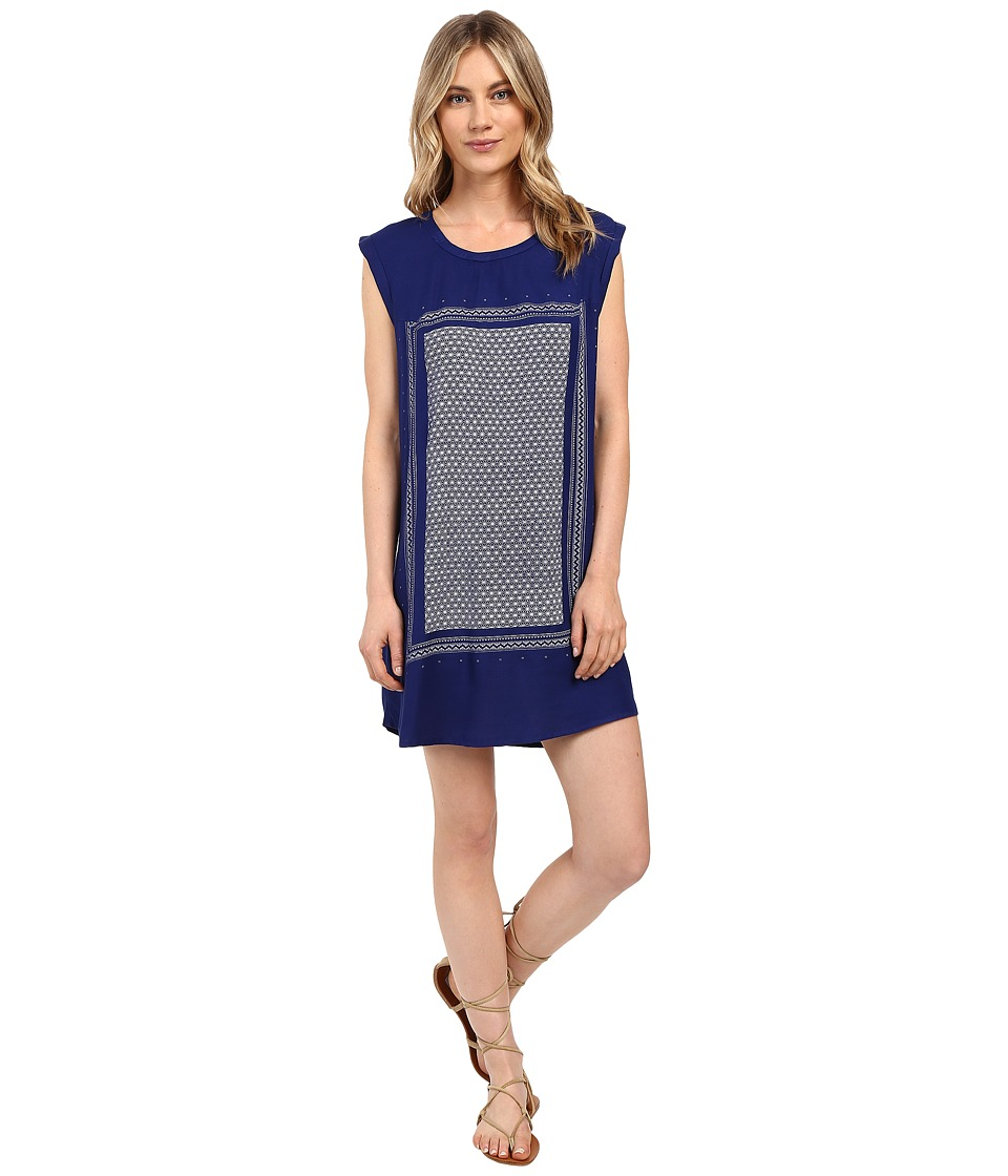Roxy - Sun Rays Dress (Blue Print) Women's Dress
