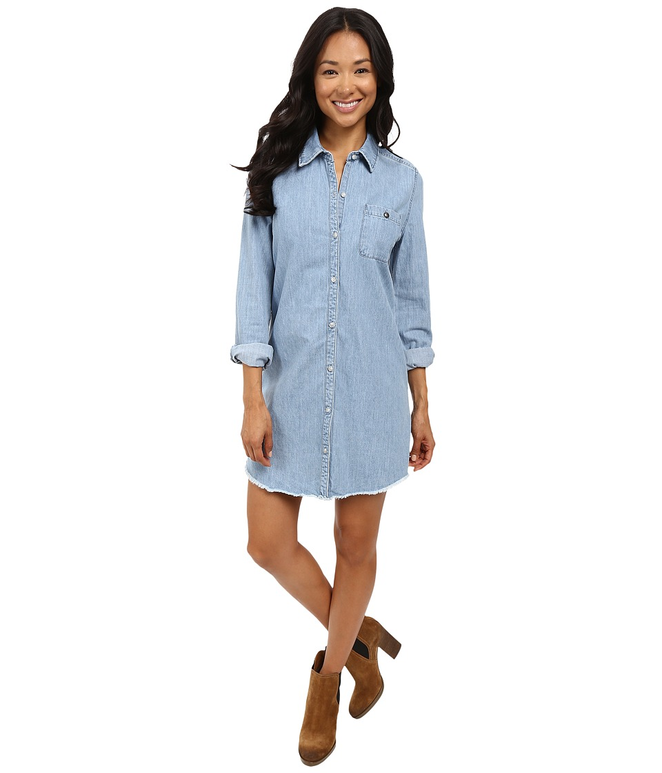 Roxy - Cat Island Denim Shirt (Light Blue) Women's Long Sleeve Button Up