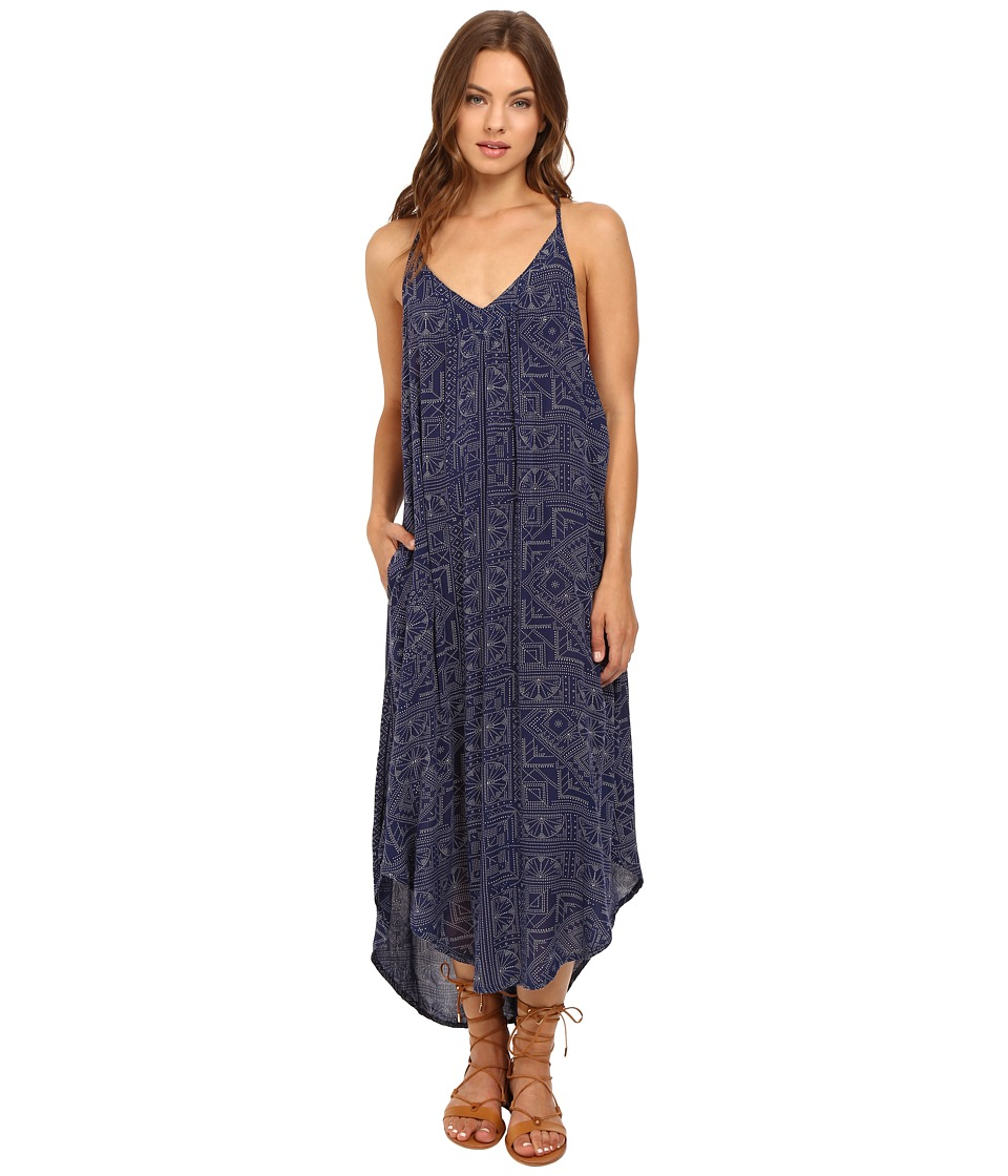 Roxy - Kat Fish Dress (Pointillism Geo Combo Blue Print) Women's Dress