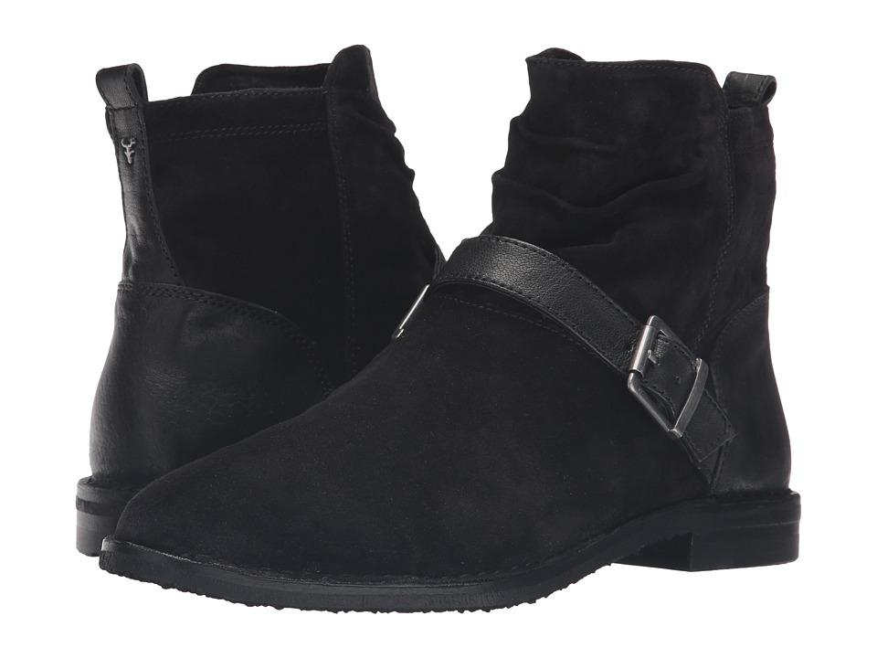 Trask - Selma (Black Italian Suede/Black Italian Washed Sheepskin) Women's Boots