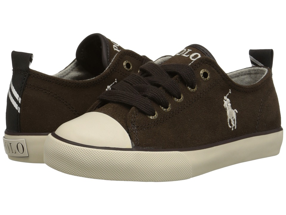 Polo Ralph Lauren Kids - Falmuth Low (Little Kid) (Chocolate Suede) Boy's Shoes
