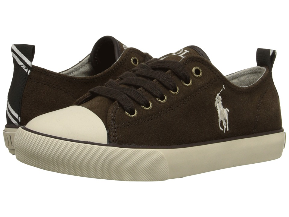 Polo Ralph Lauren Kids - Falmuth Low (Big Kid) (Chocolate Suede) Boy's Shoes
