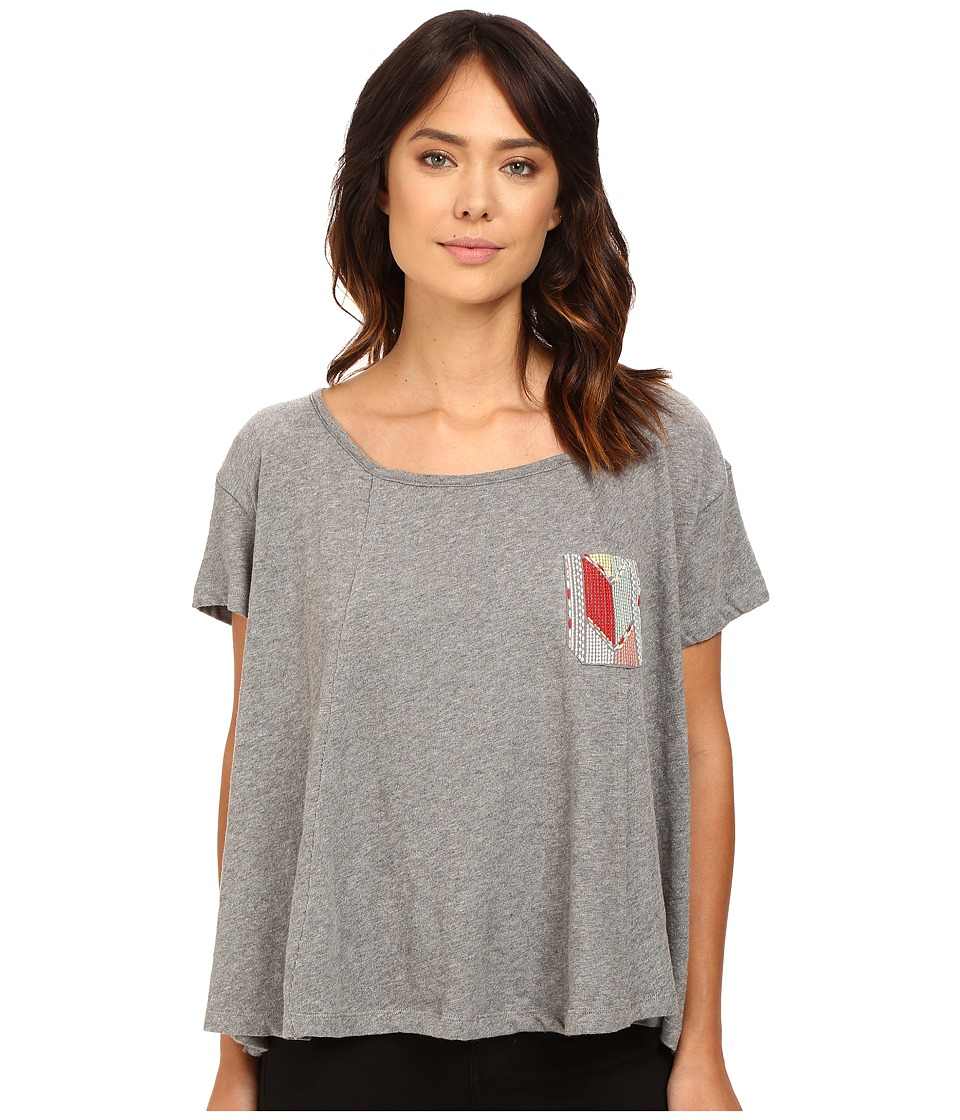 Roxy - Feel Flows Tee (Charcoal Heather) Women's T Shirt