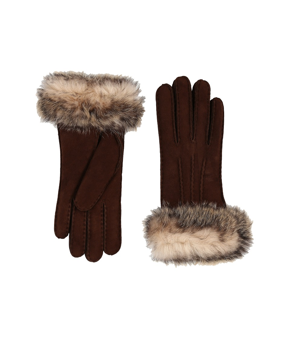 UGG - Three Point Glove w/ Toscana Trim (Chocolate Multi) Extreme Cold Weather Gloves