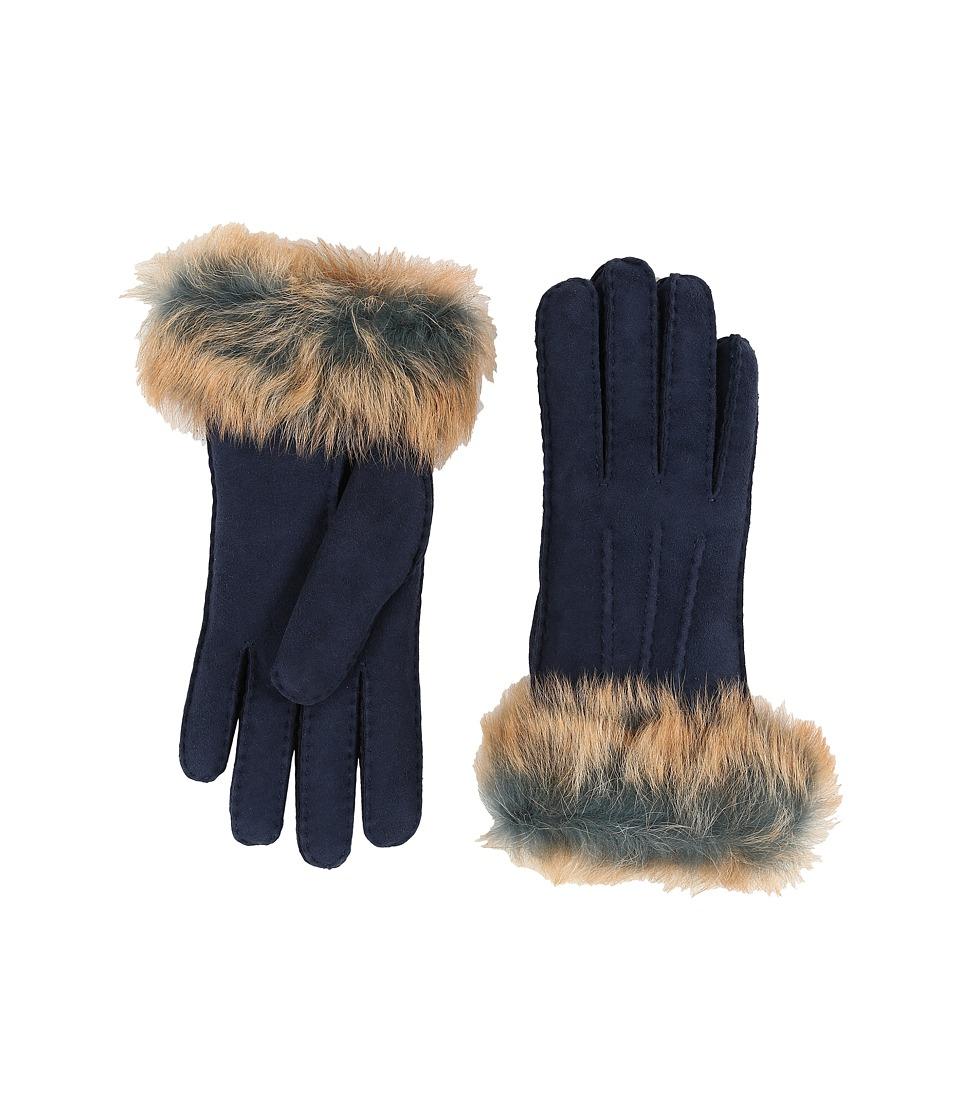 UGG - Three Point Glove w/ Toscana Trim (Indigo Multi) Extreme Cold Weather Gloves