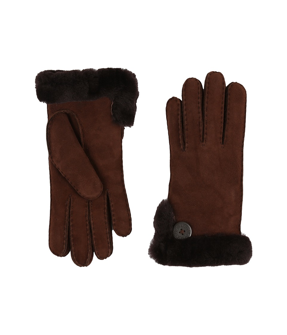 UGG - Side Vent Bailey Glove (Chocolate) Extreme Cold Weather Gloves