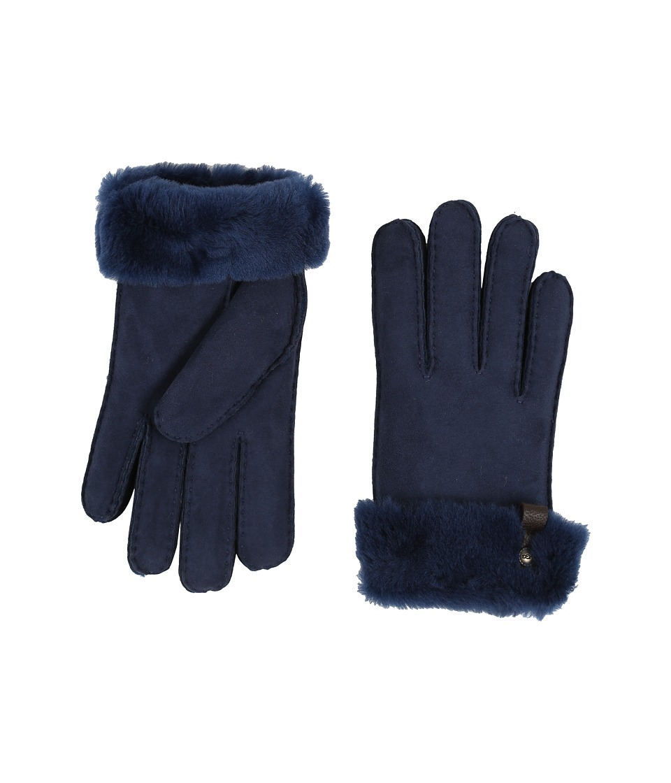 UGG - Tenney Glove with Leather Trim (Indigo Multi) Dress Gloves