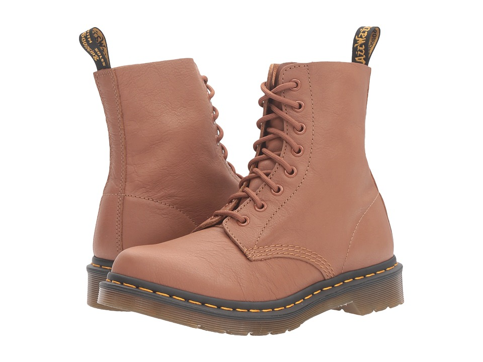 Dr. Martens - Pascal 8-Eye Boot (Tan Virginia) Women's Lace-up Boots